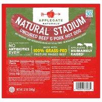 Applegate Natural Stadium Uncured Hot Dog, Beef & Pork, 12 Ounce