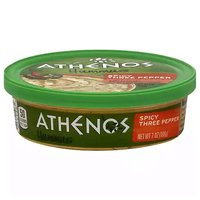 Athenos Hummus,  Spicy Three Pepper, 7 Ounce