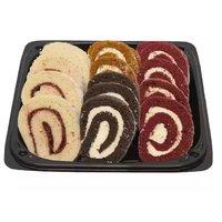 "12"" Platter, Cake Roll, Assorted, 27 Ounce"