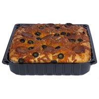 Focaccia Bread, Pepperoni, Black Olive, Cheddar, 32 Ounce
