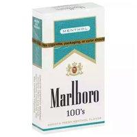 Marlboro Menthol Lights, 100's, Box, 1 Each