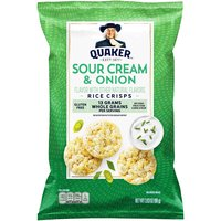Quaker Rice Crisps, Sour Cream & Onion, 3.03 Ounce