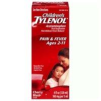 Children's Liquid Tylenol , Oral Suspension, Cherry, 4 Ounce