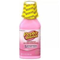 Pepto Bismol Upset Stomach Reliever/Antidiarrheal, 8 Ounce