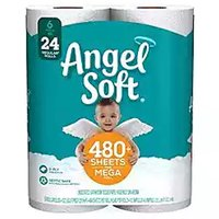 Angel Soft Bath Tissue, 6 Each