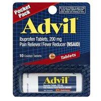 Advil Tablet Vials, Ibuprofen, Coated Tablets, 200 mg, 10 Each