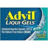 Advil Liqui-Gels Capsules, Ibuprofen, 20 Each