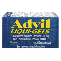 Advil Liqui-Gels Pain Reliever, Fever Reducer, Solubilized Ibuprofen, 200 mg, 80 Each
