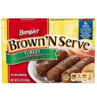 Banquet Brown 'N Serve Turkey Sausage Links, 6.4 Ounce