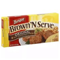 Banquet Brown 'N Serve Sausage Patties, 6.4 Ounce