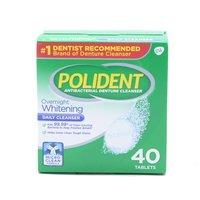 Polident Overnight Denture Cleanser Tablets, 40 Each