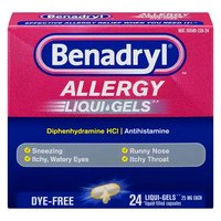 Benadryl Allergy Relief Liqui-Gels, 25mg, 24 Each