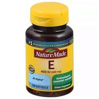 Nature Made Dietary Supplement, Vitamin E, 100 Each