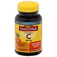 Nature Made Dietary Supplement, Vitamin C Chewable, 60 Each