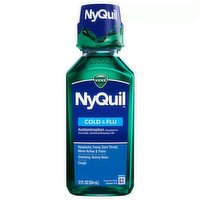 Nyquil Cold & Flu, Nighttime Relief Liquid, 12 Ounce