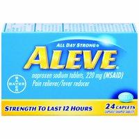 Aleve Pain Reliever/Fever Reducer Caplets, 24 Each