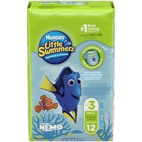 Huggies Little Swimmers Disposable Swimpants, Size S (16-26 lbs.), Disney, 12 Each