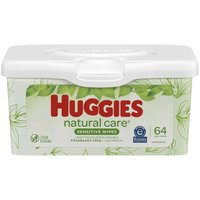 Huggies Natural Care Sensitive Baby Wipes, Unscented, 64 Each