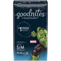 Goodnites Bedtime Underwear for Boys, Small-Medium, 14 Each