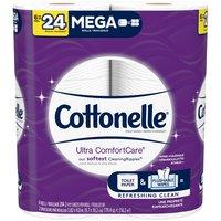 Cottonelle Ultra Comfort Care Toilet Paper, Mega Rolls, 2-Ply, 6 Each