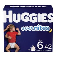 Huggies Overnite Diapers Jumbo, Size 6, 15 Each