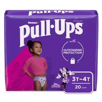 Huggies Pull-Ups Training Pants, Girl, 3T-4T (32-40 lbs.), 20 Each