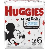 Huggies Snug & Dry Diapers, Size 6, 19 Each