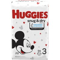 Huggies Snug & Dry Diapers, Jumbo, Size 3, 31 Each