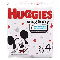 Huggies Snug & Dry Diapers, Jumbo, Size 4, 27 Each