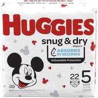 Huggies Snug & Dry Diapers, Size 5, 22 Each