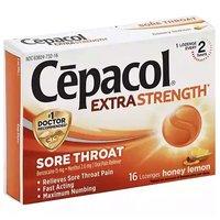 Cepacol Extra Strength Sore Throat Lozenges, Honey Lemon, 16 Each