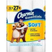 Charmin Essentials Soft Bathroom Tissue, Giant Rolls, 12 Each