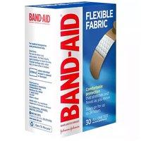 Band-Aid Fabric Adhesive Bandages, Flexible, 30 Each