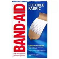 Band Aid Flexible Fabric Adhesive Bandages, Extra Large, 1 Size, 10 Each