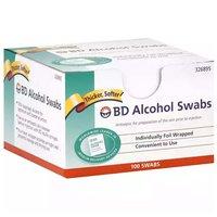 Alcohol Swabs, Regular, 100 Each