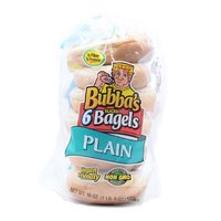 Bubba's Bagels, Plain, 18 Ounce