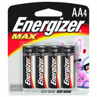 Energizer Max Alkaline Battery AA, 4 Each