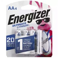 Energizer Ultimate Lithium Batteries, AA, 4 Each