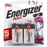 Energizer Max + Power Seal Batteries, Alkaline, 9V, 2 Each