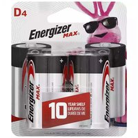 Energizer Max Alkaline Battery D - 4 Pk, 4 Each