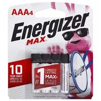 Energizer Max Alkaline Battery, AAA, 4 Each