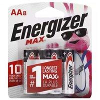 Energizer Max Alkaline Battery AA, 8 Each