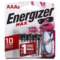 Energizer Max Alkaline Battery AAA, 8 Each