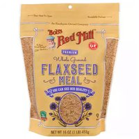 Bob's Red Mill Flaxseed Meal, Premium, Whole Ground, 16 Ounce
