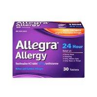 Allegra Adult Tablet, 24-Hour, 30 Each