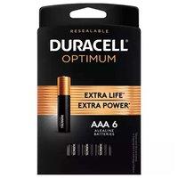 Duracell Optimum Alkaline Batteries, AAA, 6 Each