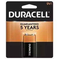 Duracell Coppertop Alkaline Battery, 9V, 1 Each