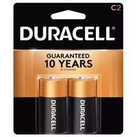 Duracell Coppertop Alkaline Battery, C 2-Pk, 2 Each