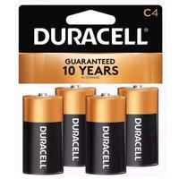 Duracell Coppertop Alkaline Battery, C, 4 Each