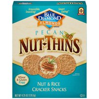 Blue Diamond Nut-Thins Crackers, Pecan Nut & Rice , 4.25 Ounce